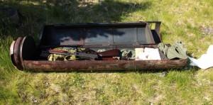 Voorbeeld van een container waarin wapens zitten