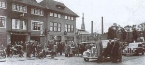 De garage van Albert Mebius, Leeuwarden (Herkomst: kentekens.tresoar.nl) (http://kentekens.tresoar.nl/?t=0&nummer=18474