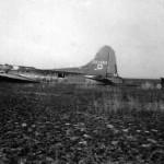 Neergestortte Boeing B17 bommemwerker 'Dinah Might' in de NOP.