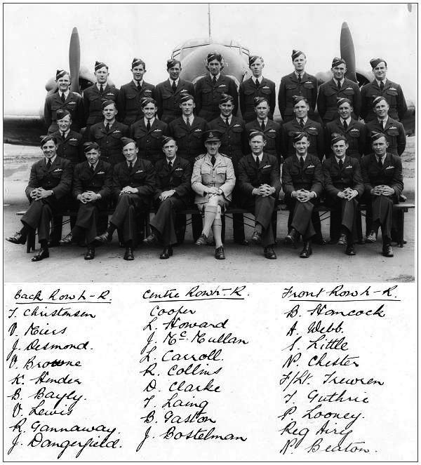 Group photo - with F:Sgt. Andrew Basil Reginald 'Reg'AiryFrontRow2ndfromright