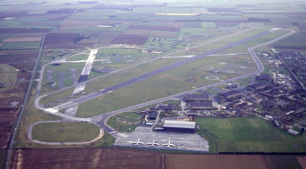 Vliegveld Waddington in Lincolnshire, Engeland, is na de oorlog altijd een basis van de RAF gebleven.