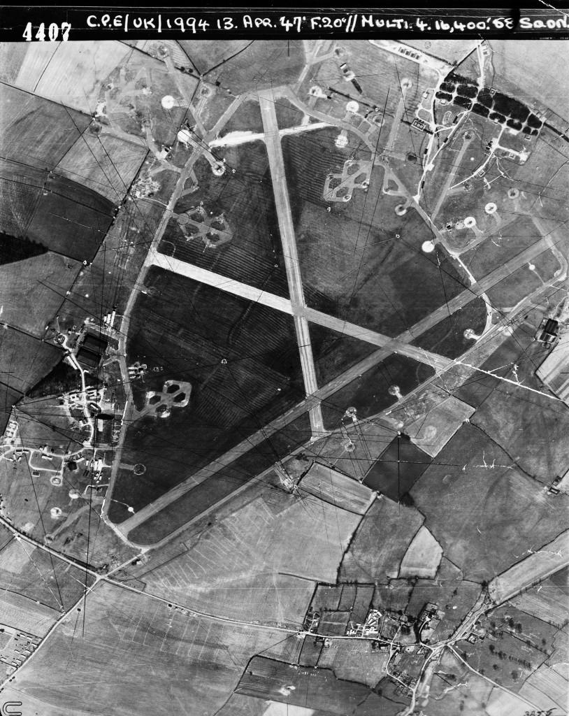 Vliegveld Chelveston in Northamptonshire, Engeland. USAAF Station 105