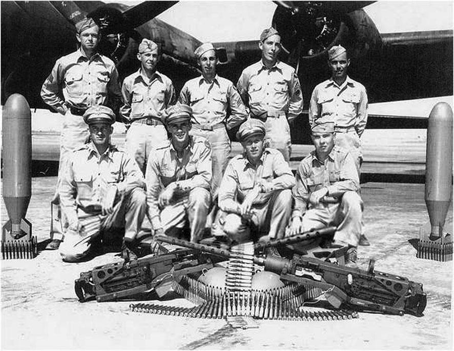 Wallace Emmert en zijn bemanningsleden.